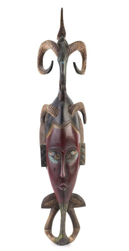 Horned African Face Mask