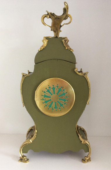 Louis XV Style Clock Verso