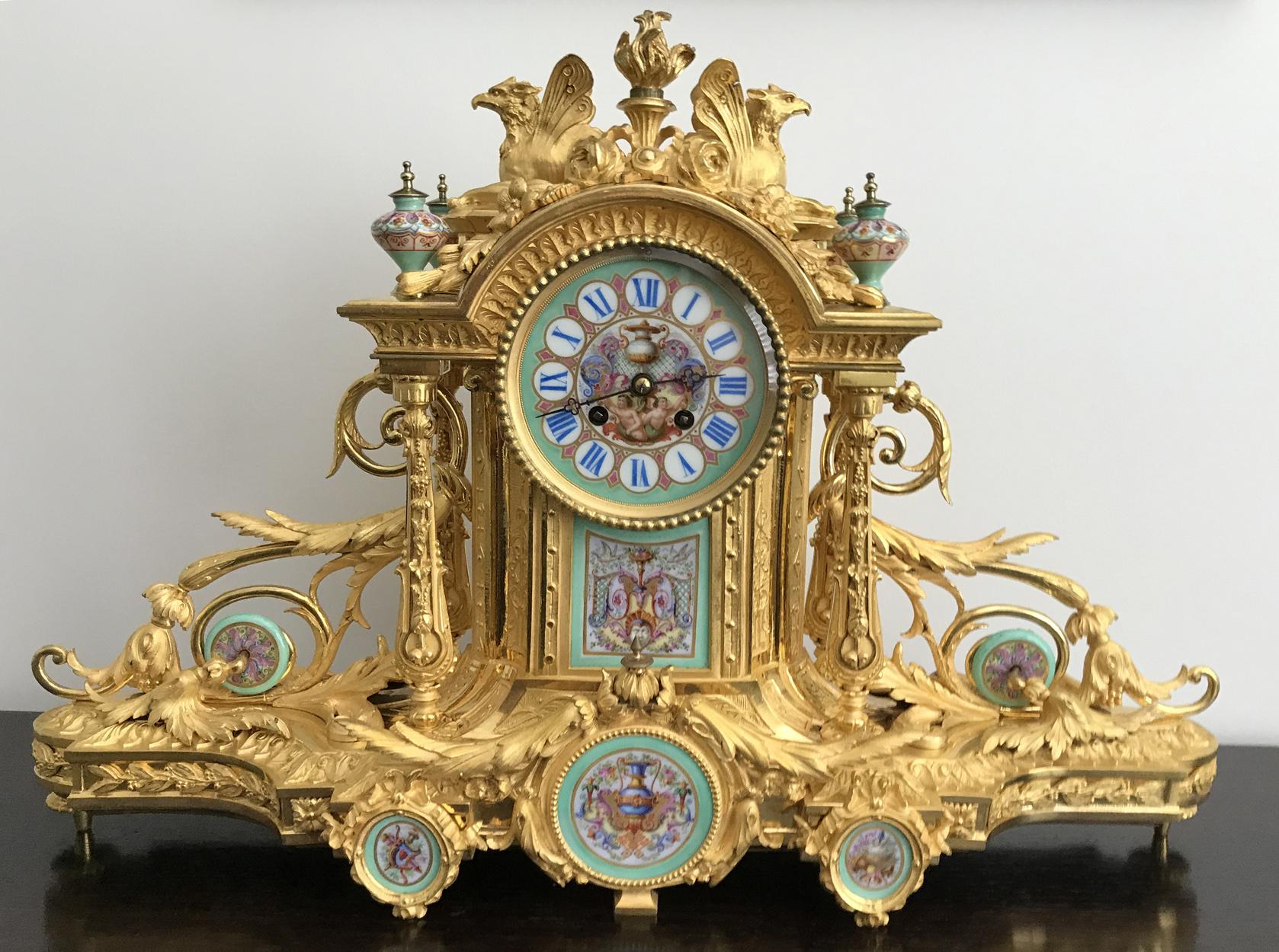 Napoleon III Gilt Mantel Clock