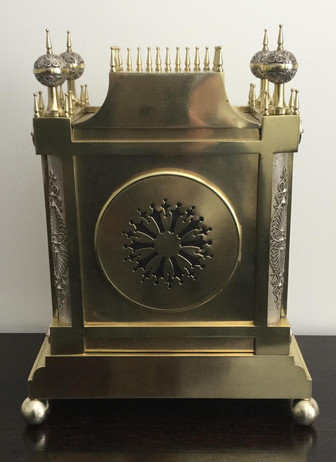 French Gothic Style Clock, Verso