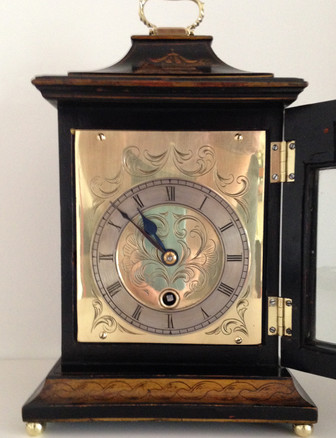 Astral Black Chinoiserie Clock