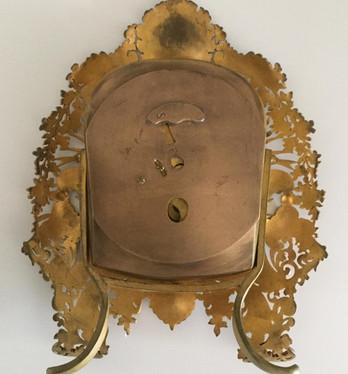 Gilt Bronze Strut Clock, Verso