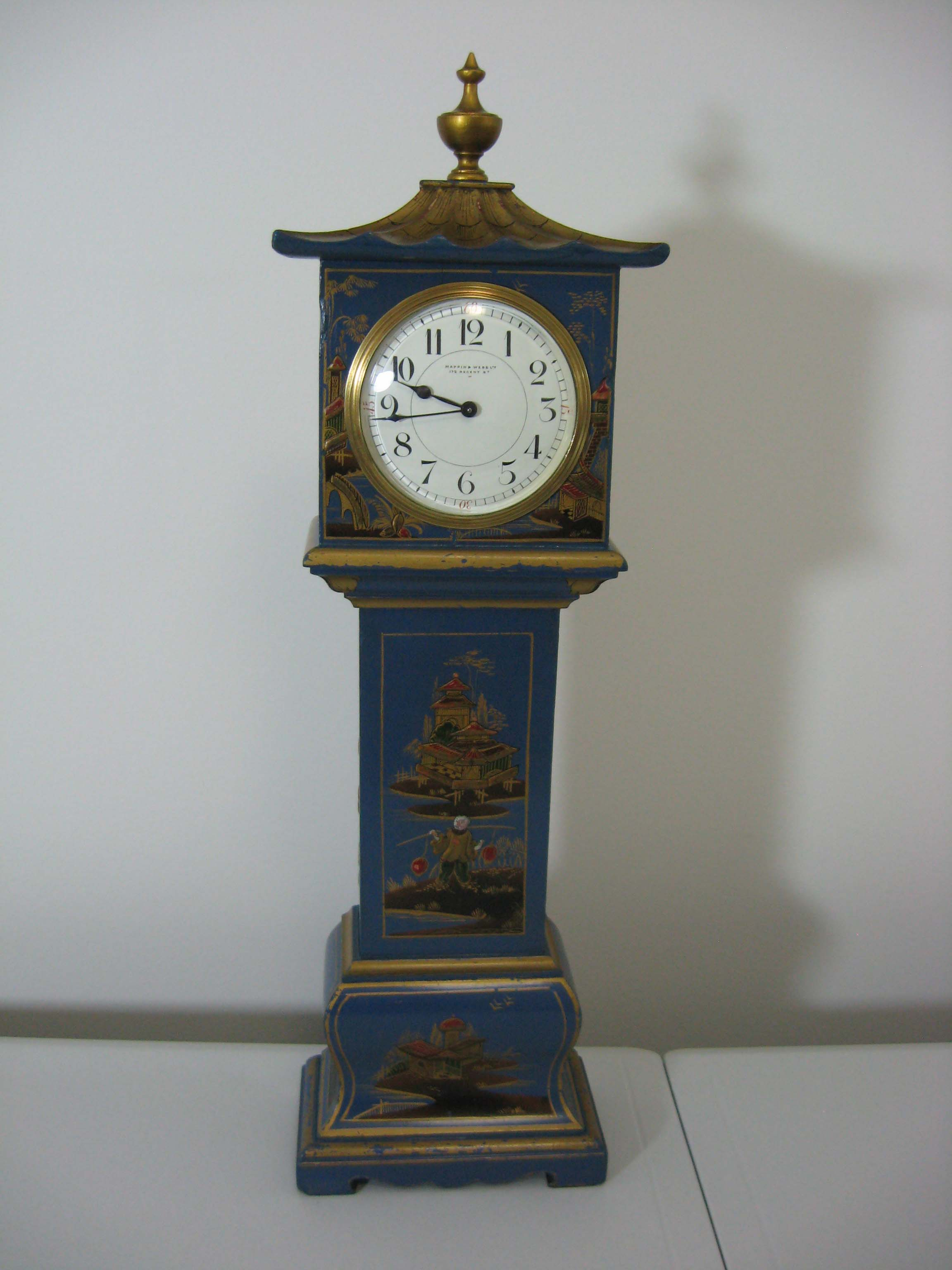 Blue Chinoiserie Longcase Clock