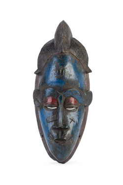 Carved Wood West African Tribal Mask
