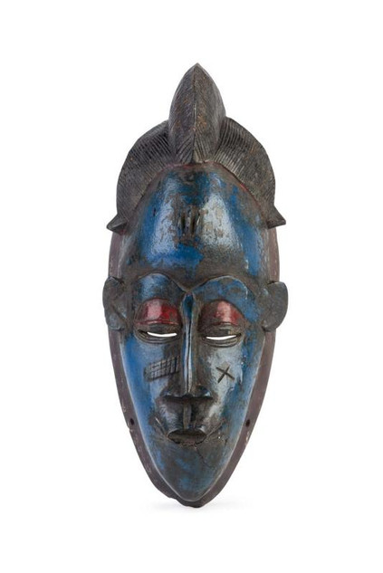 Blue West African Tribal Mask