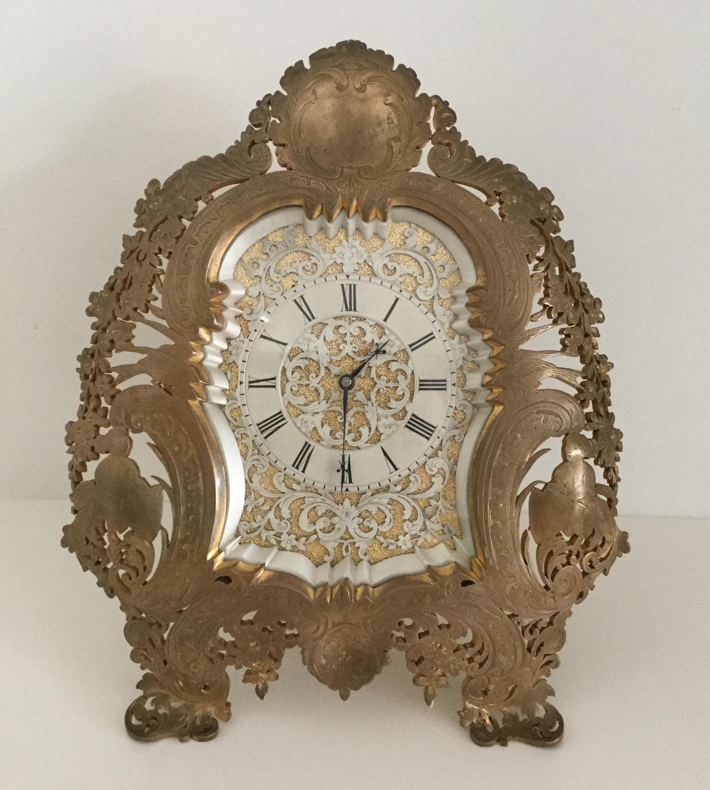 Gilt Bronze Strut Clock