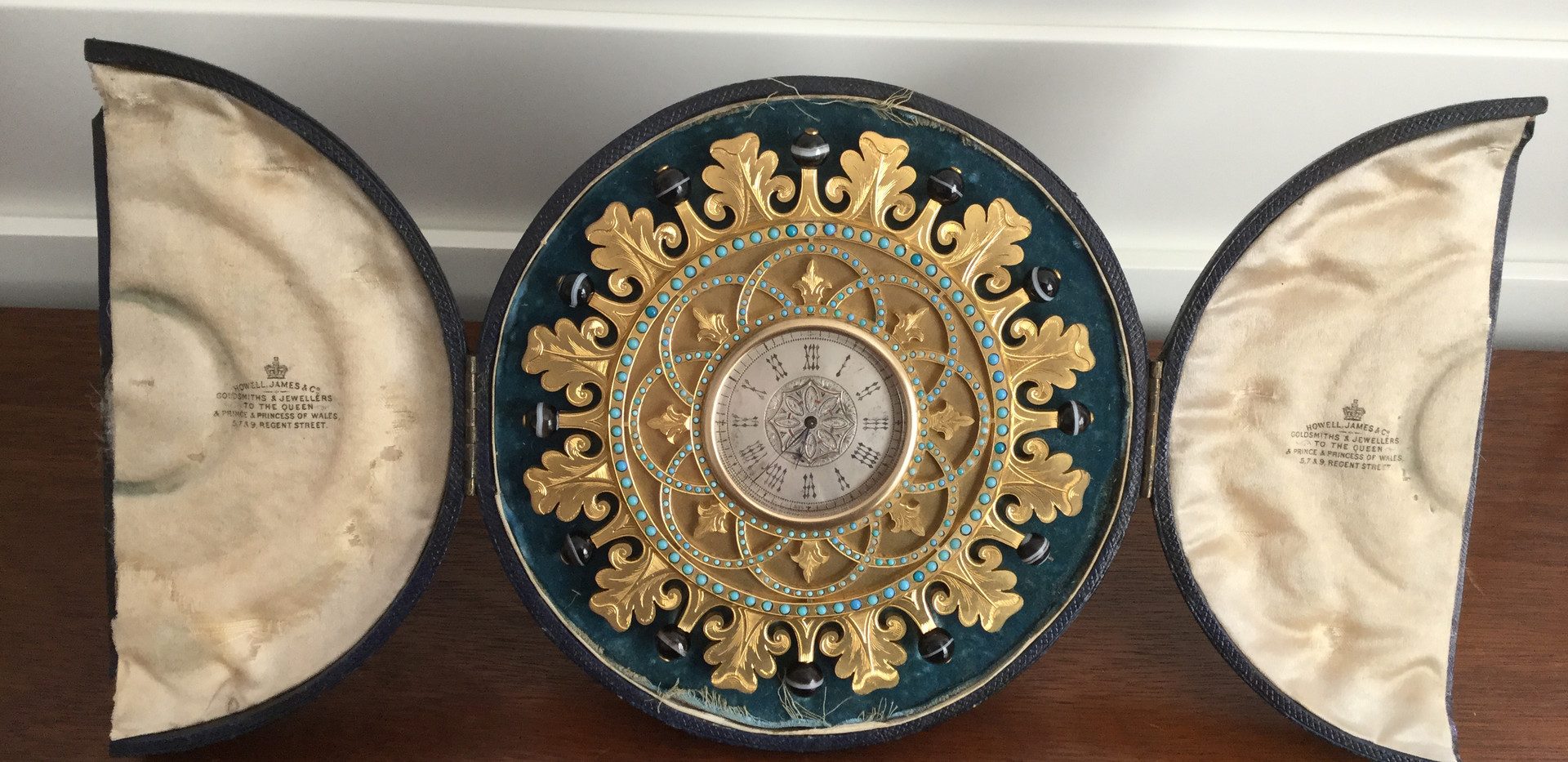 Howell James Gilt Bonze Strut Clock