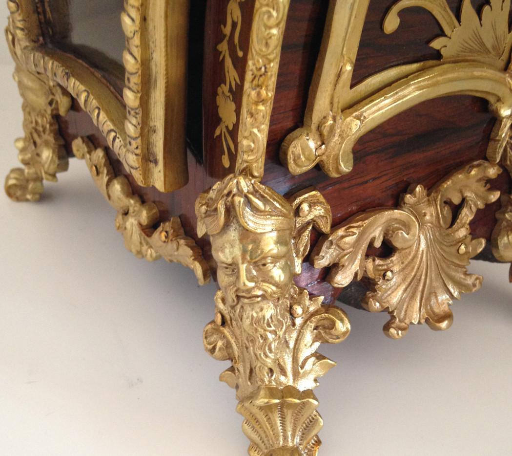 Raingo Freres Louis XV Style Rosewood Clock