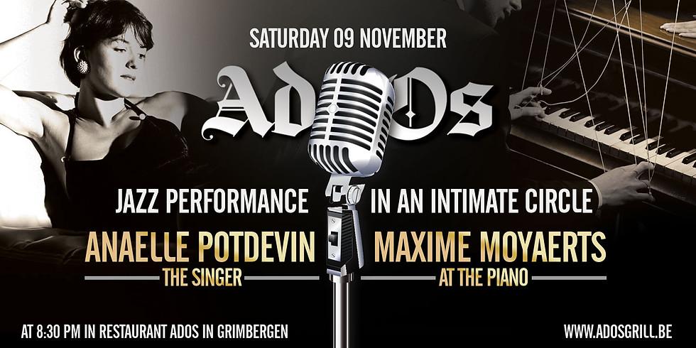 Jazz performance with Anaelle Potdevin and Maxime Moyaerts