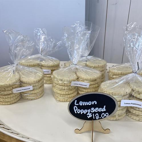 Lemon Poppyseed Sandwich Cookies (6 pack)