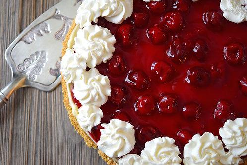 Cherries & Cream Cheesecake