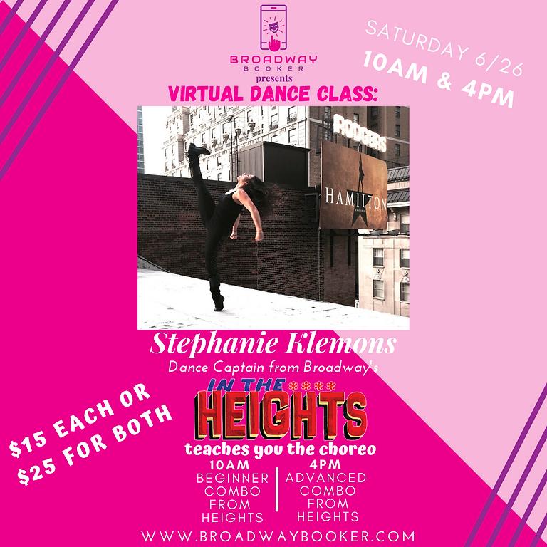 Stephanie Klemons Virtual Dance Class - IN THE HEIGHTS