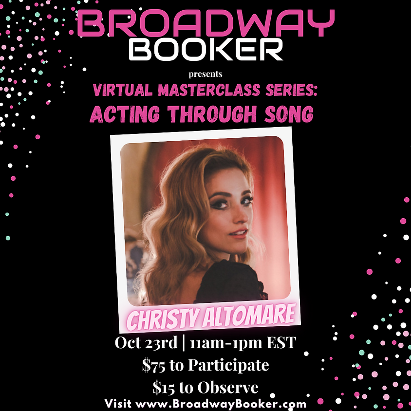 Christy Altomare Online Masterclass - Acting Through Song