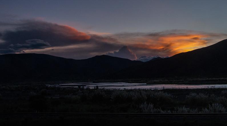 Sunset near Puno