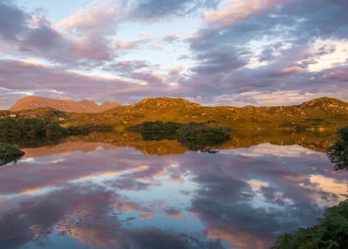 Loch Drumbeg at Sunset