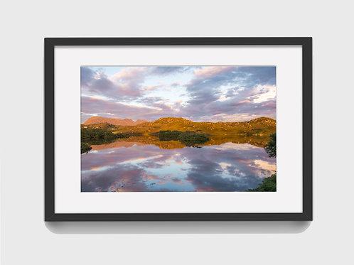 Sunset at Loch Drumbeg