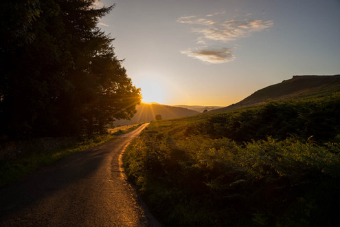 Sunset in the Peak District