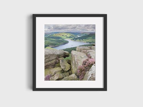 View of Ladybower from Bamford Edge