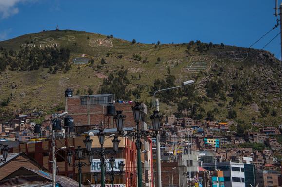 Decorated Hills in Puno