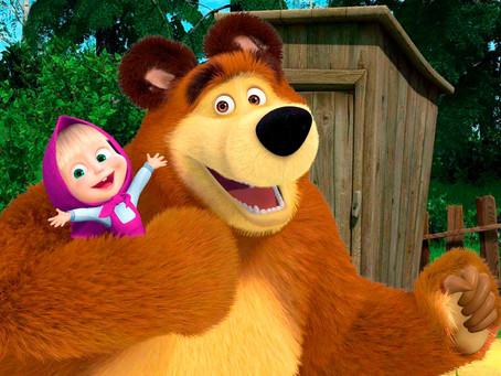 Belajar Rusia dari Film Masha and the Bear