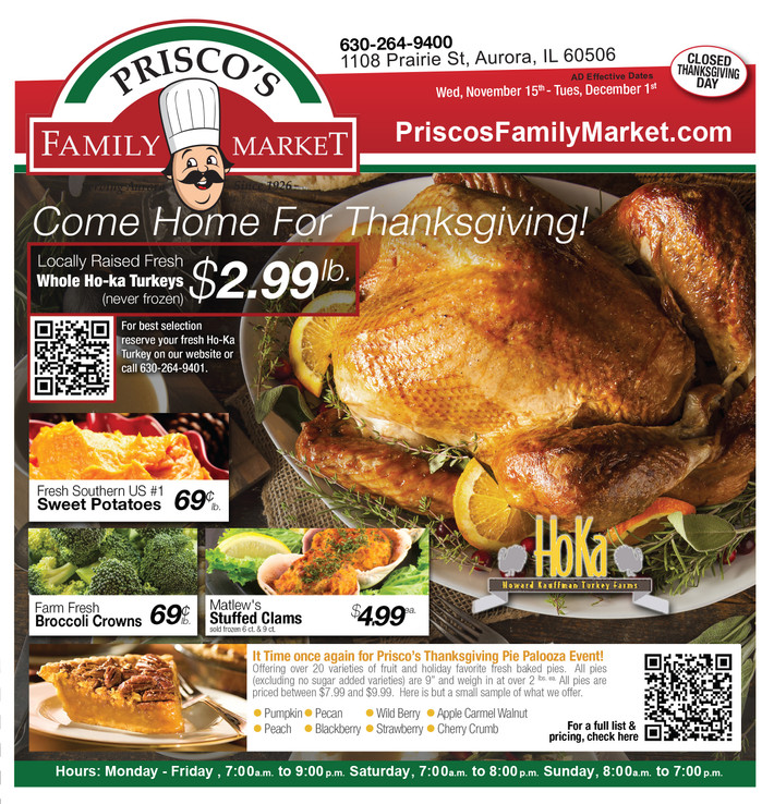 Prisco's Family Market Ad