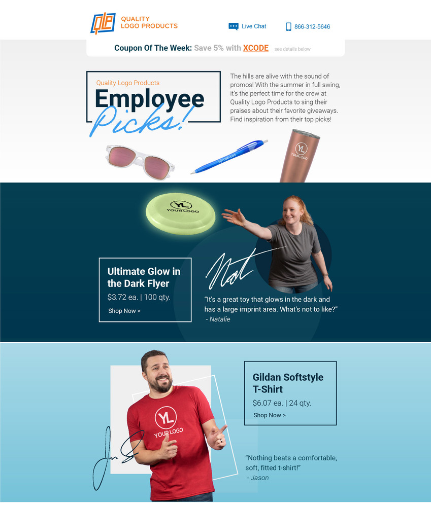 Employee Picks Eblast