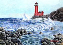 """Lighthouse & Waves"""