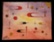 Original Captive Art™ - Science Fiction Abstract Painting on Canvas