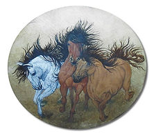 Original Captive Art™ - Wild Horses in Full Gallop