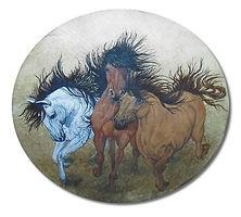Original Captive Art™ - Wild Horses in Full Gallop