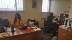 Ms. Burton at work