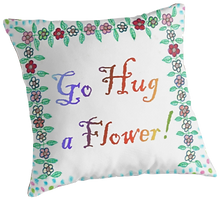 Whimsical, Flowers, Pillow, Springtime