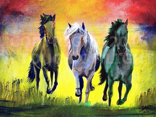 """Kalaidoscope Horses"""