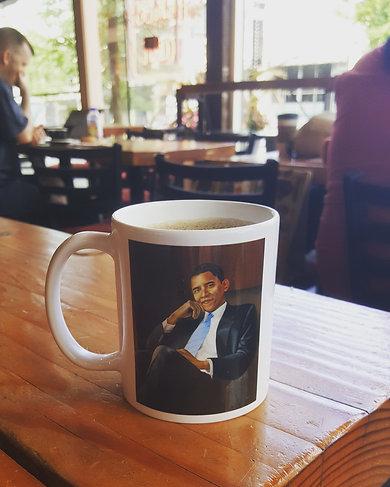 President Obama Portrait Mug