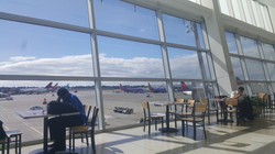 Waiting to leave SeaTac