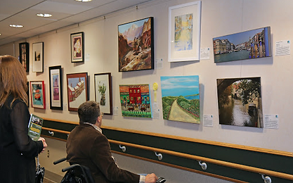 Bryn Mawr Rehabilitation Hospital, mental health, art show, art exhibit, Pennsylvania, Phildelphia
