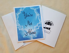 """""""You're Not Alone"""" words of hope card for sale"""