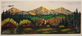Original Captive Art™ - watercolor mountain painting