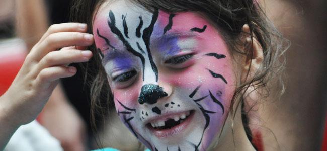 Purple Cat Facepaint