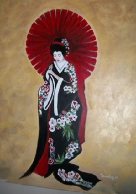"The Geisha 24"" x 36"" Acrylic on canvas"