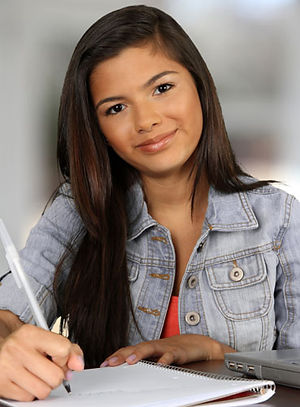 a2 Teen Girl Writing.jpeg
