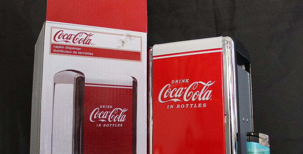coca cola napkin dispenzer