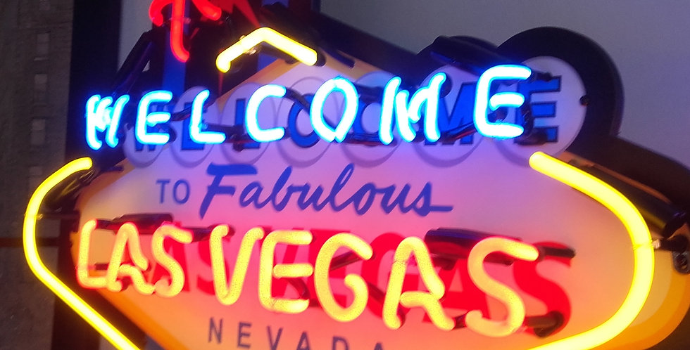 neon welcome las vegas