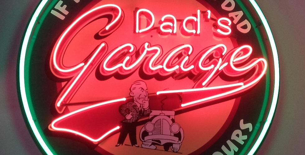 neon dad's garage