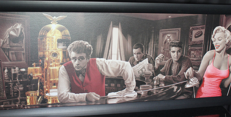 schilderij elvis , marilyn , james dean