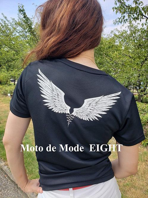 【Moto de Mode  EIGHT】再販!!背中に広がる両翼  デザインTシャツ