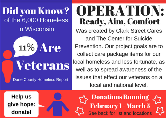 Clark Street Cares Campaign to Support Homeless Veterans