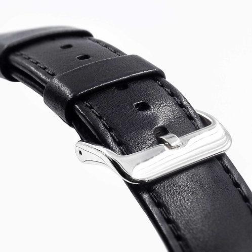 Black Leather | Chrome Clip