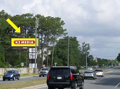 Digital billboard heading west toward Bl