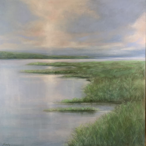 Spring Reflections 36x36 oil $1950
